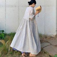 Lanmrem Bej Çizgili Uzun Kollu İpli Sapanlar Bel Plus Kadınlar Ince Ceket Rahat Moda Hırka Yeni TD149 201026