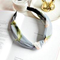 Fashion Elegante Cross Knot Ploth Art Wide Fandbens Stretchy Floral Striped Hair Bands per le donne Ragazze Accessori per capelli Accessori per capelli Quiswrap q sqcsso