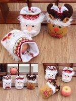 2020 Рождественские подарки Christma Apple Bag, 3 стиль Ping Peng Peng Fruit Упаковочная сумка с Санта-Клаусом и Снеговиком для детей