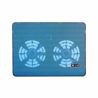 Laptop Soğutma Pedleri Pad Çift Fanlar Soğutucu Yüksek Performanslı İki USB Bağlantı Noktası Ile Dizüstü Destek 17 inç Mavi