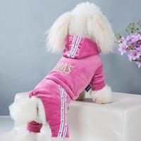 Vêtements animaux de compagnie Français Bulldog Automne Hiver Golden Velvet Four-jambe Sportswear Teddy petite et moyenne chiots Jumpsuit