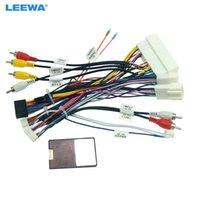 Harnais de câblage audio 16pin Leewa voiture avec boîte à canbus pour KIA KX5 / KX7 Hyundai Sonata 9 Adaptateur de fil d'installation STEREO # 6771
