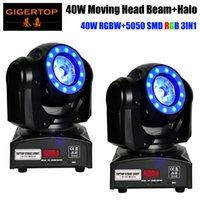 2XLOT TIPTOP TP-L682 Hauptstrahl 40 Fusion LED Moving Head Beam Licht 40-Watt Quad RGBW mit LED-Ring DMX512 für Bühnenlicht-Disco-RGBW