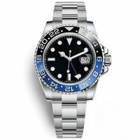 시계 남자 세라믹 베젤 기계식 블루 블랙 시계 크라운 자동 스포츠 자체 손목 시계 크로노 크로노 그래프 패션