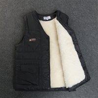 Мужской зимний жилет Реальные овечьи Мех короткие куртки сгущают утолщение Теплый Новый Жилет Высококачественный Shorn Overkin Plus Размер Зимнее пальто 201120
