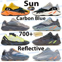 700 Utility Negro Kanye West Hombres Mujeres Zapatos Corrientes Geode Estática Malva Atlético Inercia OG Wave Runner Gris Sólido Zapatillas deportivas 36-46