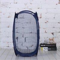 Lagerkorb Kreative faltbare hängende Wand Aufbewahrungstasche Home Storages Desktop-Raster Tragbare Schmutzige Kleidung Korb Meer Schiff YYB4880