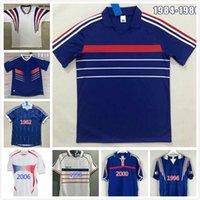 Retro Francescoli Zidane Futbol Forması 1984 1982 1996 1998 2000 2004 2006 2010 Fransız Henry Anelka Futbol Gömlek Trezeguet Antik Maillot