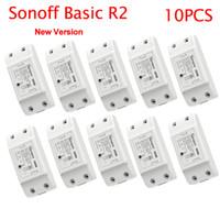 Sonoff الأساسية R2 المنزل الذكي واي فاي اللاسلكية التحكم عن بعد التبديل ضوء الموقت التبديل DIY وحدات عبر Ewelink APP العمل مع اليكسا