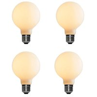 Liiiartman 6w LED Lâmpada G95, E27 Base Matt Opal Quente Branco 2500K CRI95 420LM, 50W Bulbo Edison Equivalente (4-Pacote)