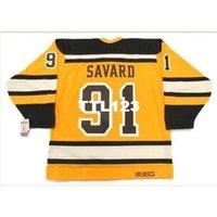 "888S # 91 Marc Savard Boston Bruins 2010 CCM 빈티지 ""겨울 클래식""하키 저지 또는 사용자 정의 모든 이름 또는 번호 Retro Jersey"