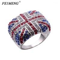 Новое Прибытие Британский флаг Кольца Британский Марк Великобритания Logo Charm Punk Rock Rings для Женщин Мужчины Мода Ювелирные Изделия Hip Hop Anel1