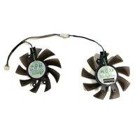 2pcs / 세트 80mm (75mm) GA82S2H GTX1060 GTX1060에 대 한 쿨러 팬을위한 PNY GTX1060 6GB XLR8 게임 OC 카드 냉각