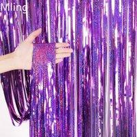 Sfondo da sposa Mling Tenda Glitter Gold Tinsel Brange Foil Sequin Tenda Turga Compleanno Baby Shower Party Backdrop Decor Props1