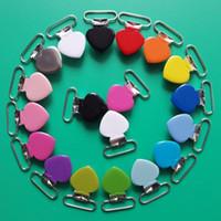 Sutoyuen 32 adet 1 '' 25mm Kalp Emzik Klipler Metal Jartiyer Bebek Kukla Emzik Zincir Kurşun Ücretsiz Için Emzik Tutucu Klipler