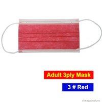 UIRZQDHL ücretsiz factroy yetişkin perakende 3ply nakliye yüz tek kullanımlık renkli kat maske bfe95% 3