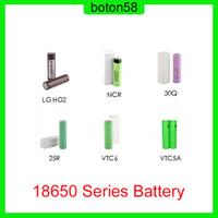 Melhor Qualidade HG2 30Q VTC6 3000mAh VTC5A 2600mAh NCR 3400mAH 25R 2500mAh 18650 Bateria E CIG MOD Recarregável Li-ion Bateria
