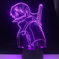 ITACHI ANBU LED ANIME LAMP NARUTO Figura Nightlight acrilico 3d lampada per Kid Camera Decor Anime Luce