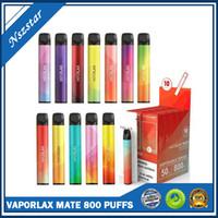 정품 Varoplax 메이트 일회용 포드 장치 500mAh 3ml Prefilled Stick Vape Bars 시스템 휴대용 증기 STIX 800 Puff