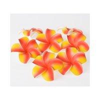 100 stücke 7cm großhandel plumeria hawaiianer schaum frangipani blume für hochzeitsparty hair clip blume jllrov yummy_shop