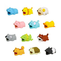 Carino animale carino morso USB caricabatterie per cavo di protezione dei dati copertura mini protettore filo cavo cavo accessori telefono regali creativi 36 disegni