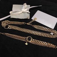 Новые Позолоченные Ожерелье Уборки Ювелирных Изделий Серьги и Браслет Модное Ожерелье Для Женщины Высокое Качество Длинные Цепочки Ожерелье Поставка