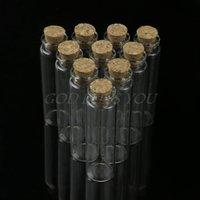 30 unids mini pequeño pequeño claro tapón de corcho de tapón de vidrio vials 20ml envío de gota 201125