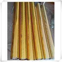 Autoadesivi decorativi Rotolo di carta foglio carta doppia faccia artigianale oro argento documenti di rotolamento processo decorazione fai da te vtky2291