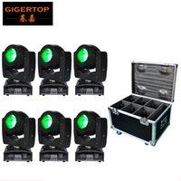 6in1 Flightcase Pack 60W LED-stråle rörlig huvudljus mini liten storlek tyst arbetsmotor 75W strömförbrukning O-R-S-AM 4In1 LED