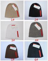 Nouveau Hiver Femmes Bonnet en maille Marque Survêtement Hommes Chapeaux Designer Sport Tricoté Beanies coton Couleurs Rouge Casual Bonnet