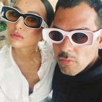 Candy Color Square Snglasses For Women Men Luxury Oversize C...