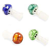 Champignon en verre Formes Hookah Shisha Transparent 10 mm 14 mm 19 mm multicouleur chichas Mini mignon Portable G2 9CS Pipes