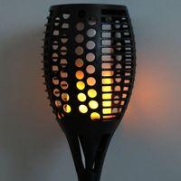 96 LED Palnik Styl Energia Słoneczna Ciepła Biała Światła Lampa Z Light Control, Czarny Do Salonu, Korytarz, Kuchnia, Sypialnia