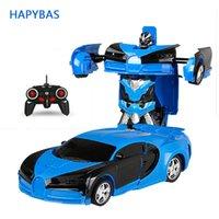 Rc محول 2 في 1 rc سيارة القيادة التحول الروبوتات السيارات نماذج التحكم عن سيارة rc القتال لعبة هدية السنة الجديدة 201202