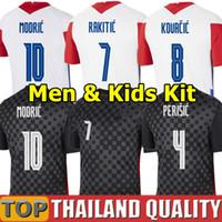 새로운 2020 mandzukic 축구 유니폼 2021 Modric Perisic Kalinic 축구 셔츠 20 21 Rakitic Kovacic Mens Kids Kit 유니폼