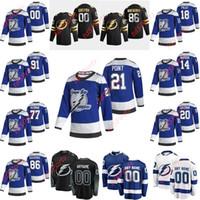 2021 Reverse Retro Tampa Bay Lightning Hockey Jersey Luke Schenn Scott Wedgewood Christopher Gibson Victor Hedman Steven Stamkos Herren Custom