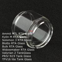 Yağ Tankı DHL lite ammit MTL Kylin M Solomon 3 Blotto Toplu Widowmaker RTA Valyrian 2 II PRIV N19 TFV16 için Yedek Ampul Cam Tüp uzatın