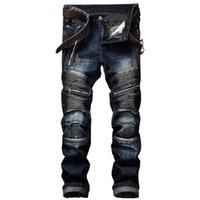 Trade étranger Nouveaux Jeans d'hommes en Europe et en Amérique Slim Plongez le pantalon lavé pour hommes