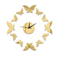 Nordic Style 3D Plastic Mirror Surface Balcony Wall Clock St...