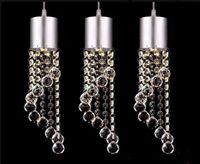 3head crystal droplight Fashion LED Chandeliers Modern Minimalist K9 Pendant Light restaurant Living Room