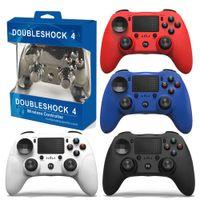 Satmak PlayStation 4 PS4 için Kablosuz Kontrol Cihazı 4 PS4 Sistemi Oyun Konsolu Oyun Kontrolleri Oyunları Joystick Perakende Paketi ile 2 adet DHL