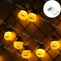 Halloween String Lights 1.5m 2m 3m 6m 3v Cappello di zucca 3500K illuminazione per vacanze per la decorazione del partito della barra di casa DHL
