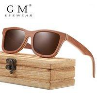 Sonnenbrille GM Skateboard Holz Männer Frauen Handmade Natürliche Holz Polarisiert mit kreativer Geschenkbox S8321