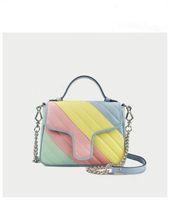 2020 Macaron Moda Bolsas Moda Bags Saco de Mulheres Bolsas De Ombro Genuíno Couro Famoso Marca Crossbody Bag