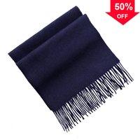 Inner Mongolia 20 anni Autunno e inverno la sciarpa di lana di colore puro caldo femminile e inverno