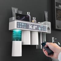 Porte-brosse à dents Accessoires de salle de Dentifrice Squeezer Distributeur Ensemble de rangement étagère pour salle de bain magnétique Adsorption Avec Coupe C1003
