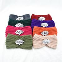 Punto de Punto Rhinestone Banda para el cabello Protección para el oído Weaver Weave Headband Women Lady Accesorios de Moda Hazbands Colorido Outdoor 4 2HF N2