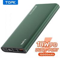Topk 전원 은행 10000mah 휴대용 충전기 LED 외부 배터리 PowerBank PD 양방향 빠른 충전 Poverbank 아이폰 Xiaomi Mi