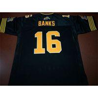 Benutzerdefinierte 888 Jugendfrauen Vintage Hamilton Tiger-Cats # 16 Brandon Banks Football Jersey Größe S-4XL oder benutzerdefinierte Name oder Nummer Jersey