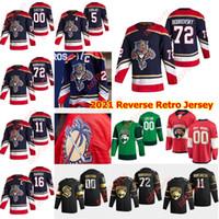 2021 inverse rétro florida panthers maillots de hockey 77 Frank Vatrano Carter Verhaeghe Markus Nutivaara Radko Gudas Brady Keeper Couture personnalisée